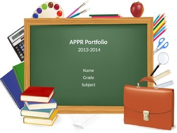 Digital APPR Portfolio Presentation Template for Danielson Domain 4