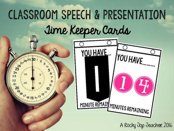 Presentation Time Keeper Cards