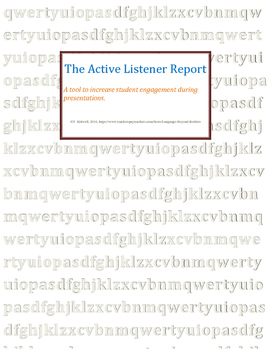 Presentation Worksheet for Active Listening