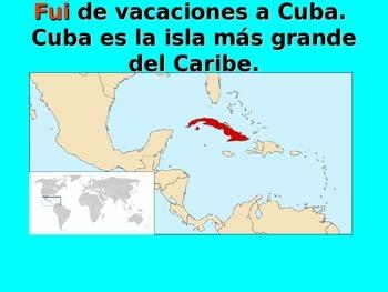 Spanish Teaching Resources. Presentation about Cuba using the Preterite Tense.