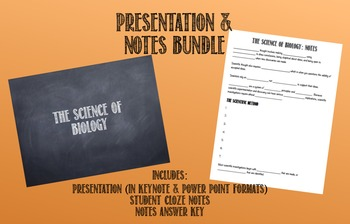 Biology: Presentation and Notes Bundle