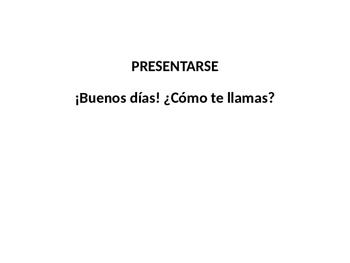 Presentation in Spanish (simple + video)