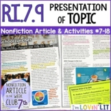 Presentation of Topic by Multiple Authors RI.7.9   School Lunches Article #7-18