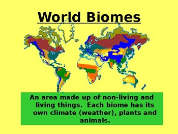 Speech Therapy-Special Education-Presentation on Biomes