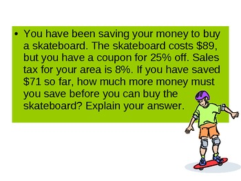 Presentation on Percent Word Problems (CCSS 7.RP.3)
