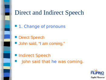 Presentation on Rules in Direct and Indirect Speech