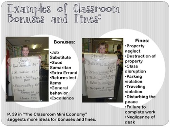 Presentation on how to manage/add to a classroom mini economy!