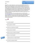 Presentational Reading Activity Spanish