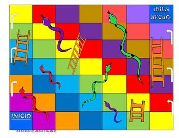 Presente Tense - Spanish Conjugation Ar Er Ir: Snakes and Ladders