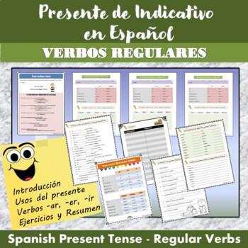 Spanish Present Tense: Regular Verbs + exercises (Presente de Indicativo)