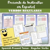 Spanish Present Tense: Regular Verbs + exercises (Presente