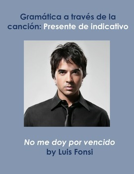 Presente de indicativo cancion/Present simple song/ No me doy por vencido