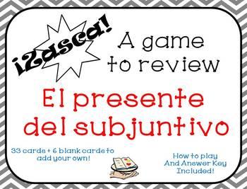 Presente del subjuntivo ZASCA game