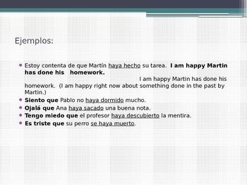 Spanish 3: Presente perfecto del subjunctivo