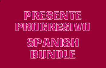 Presente progresivo (Present Progressive in Spanish) Bundle