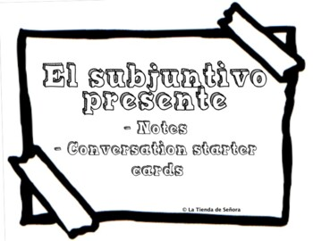 Presente subjuntivo conversation cards