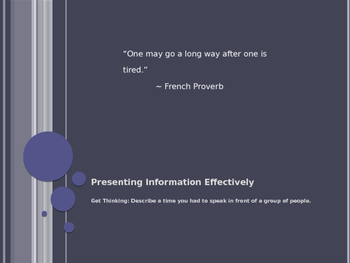 Presenting Information Effectively
