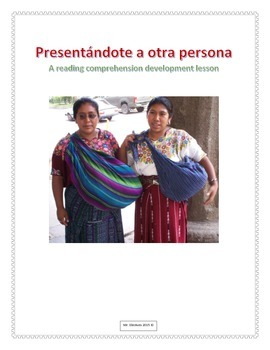 Presentándote a Otra Persona Spanish Reading Developement Activity