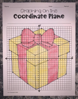 Presents (Graphing on the Coordinate Plane Mystery Picture)