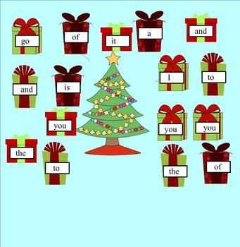 Presents Under the Tree Sight Word Game