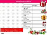 Presents Wordsearch Sheet Starter Activity Keywords Gifts Parties Christmas