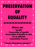 Preservation of Equality Notes and Practice