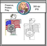 Preserve...Protect...Pray...Clipart Image