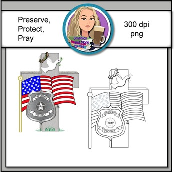 Preserve...Protect...Pray...Clipart Image