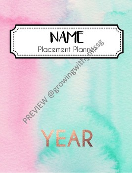 Preservice Teacher Placement Planner