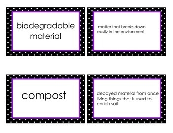 Preserving Ecosystems Science Vocabulary Flash Cards GPSthirdgrade