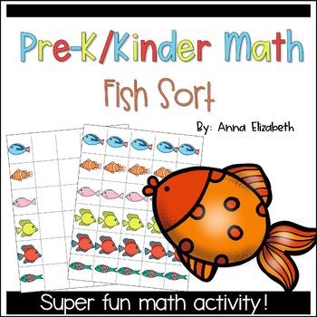 Preshool and Kindergarten Math: Fish Sort