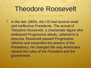 Presidencies of Roosevelt and Wilson PowerPoint