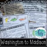 Presidencies of Washington, Adams, Jefferson & Madison PowerPoint & Guided Notes
