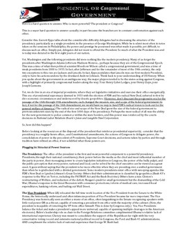 Presidency and Bureaucracy Mega Unit