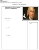 Presidency of James Madison Overview