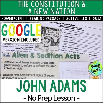 Presidency of John Adams, Alien & Sedition Acts