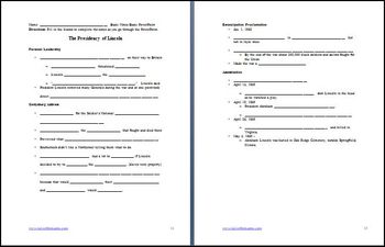 Presidency of Lincoln Differentiated Instruction Lesson Plan