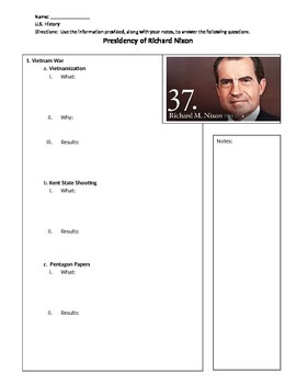 Presidency of Richard Nixon Overview