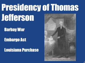 Presidency of Thomas Jefferson PowerPoint