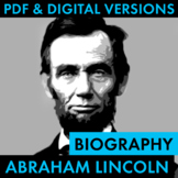 President Abraham Lincoln Biography Research Organizer, Ea