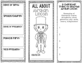 President Abraham Lincoln - Biography Research Project - Interactive Notebook