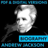 President Andrew Jackson Biography Research Organizer, Eas