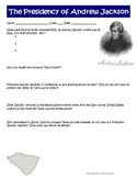President Andrew Jackson Worksheet Activity