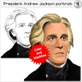 Andrew Jackson President clip art realistic portrait of the USA 7th President
