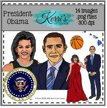 President Barack Obama Clip Art
