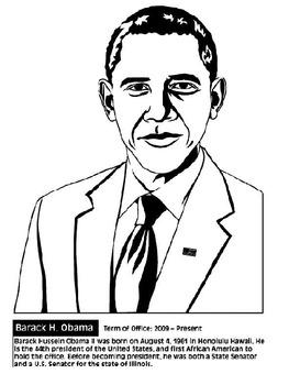 President Barack Obama Lapbook/Notebook w/Foldables