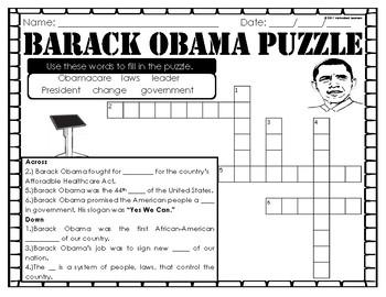 President Barack Obama: Mini Unit & Foldable & Craftivity