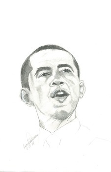 President Barack Obama Poster (original artwork)