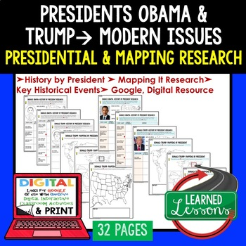 President Barack Obama & Trump Research & Mapping Print and Digital Google