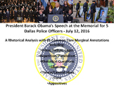 President Barack Obama's Address at Dallas Police Memorial - Rhetorical Analysis